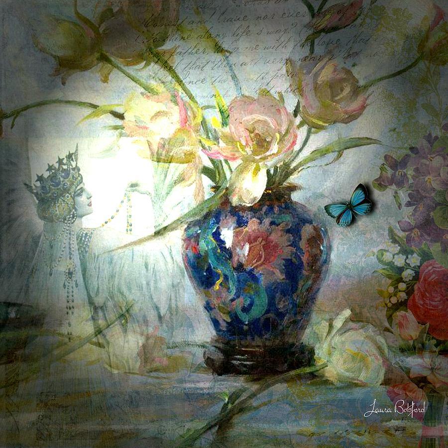 Queen Digital Art - Queen of my Heart by Laura Botsford