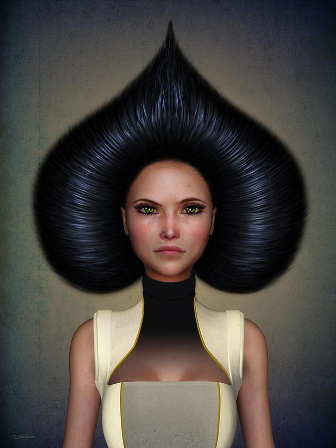Woman Digital Art - Queen Of Spades by Britta Glodde