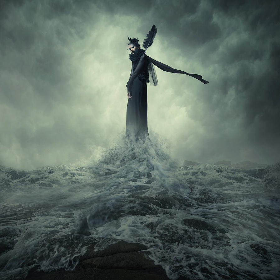 Water Photograph - Queen Of The Darkness by Hardibudi