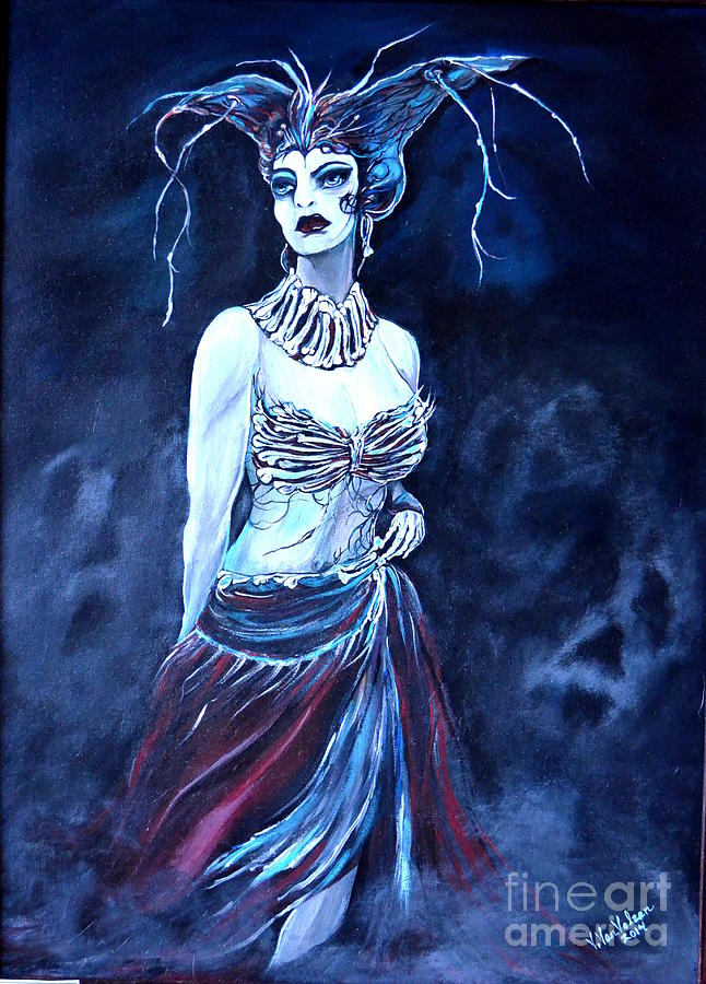 Gothic Painting - Queen Of The Dead by Valarie Pacheco