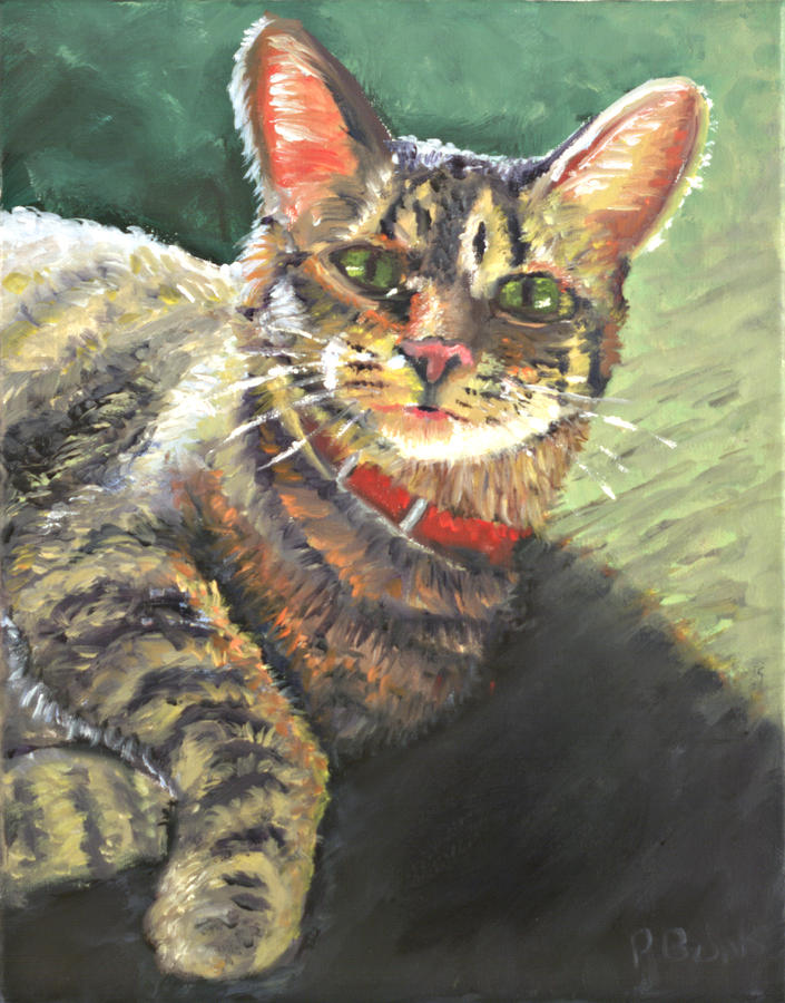 Cat Painting - Queen Of The House by Peter Bonk