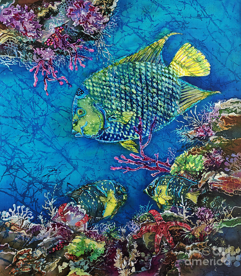 Angelfish Painting - Queen Of The Sea by Sue Duda