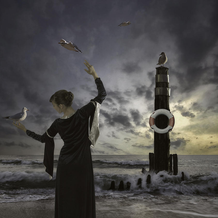 Woman Photograph - Queen Of The Seagulls by Joana Kruse