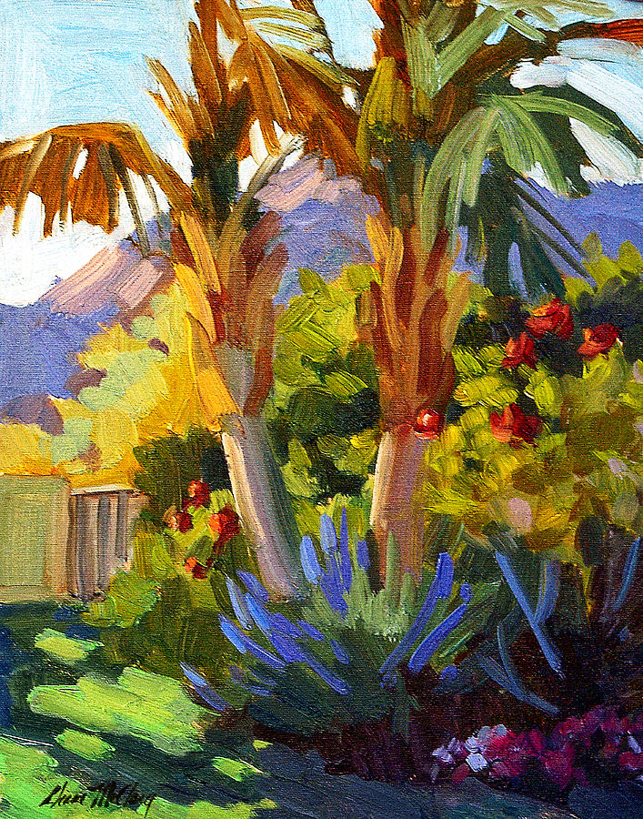Queen Palms Painting - Queen Palms by Diane McClary