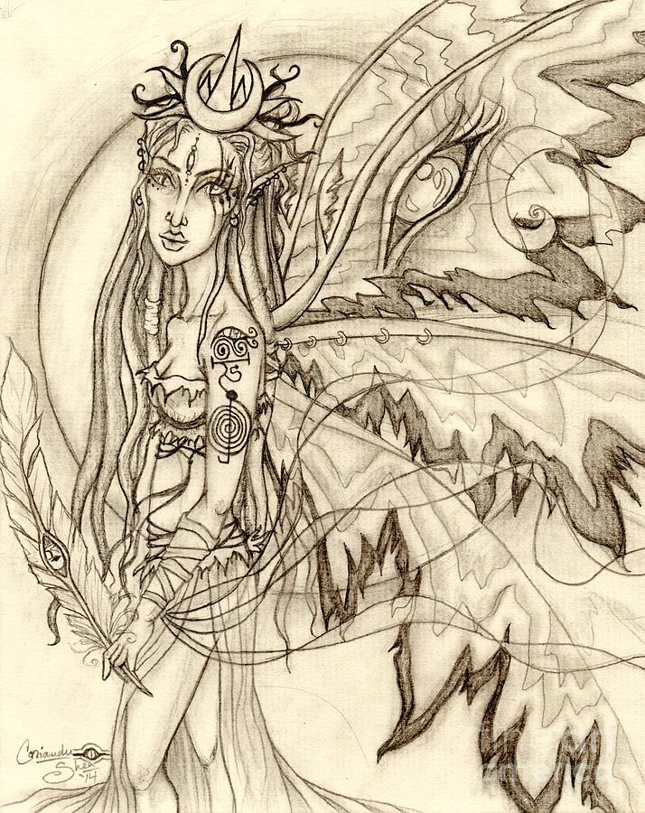 Queen Drawing - Queen Rhiannon by Coriander  Shea