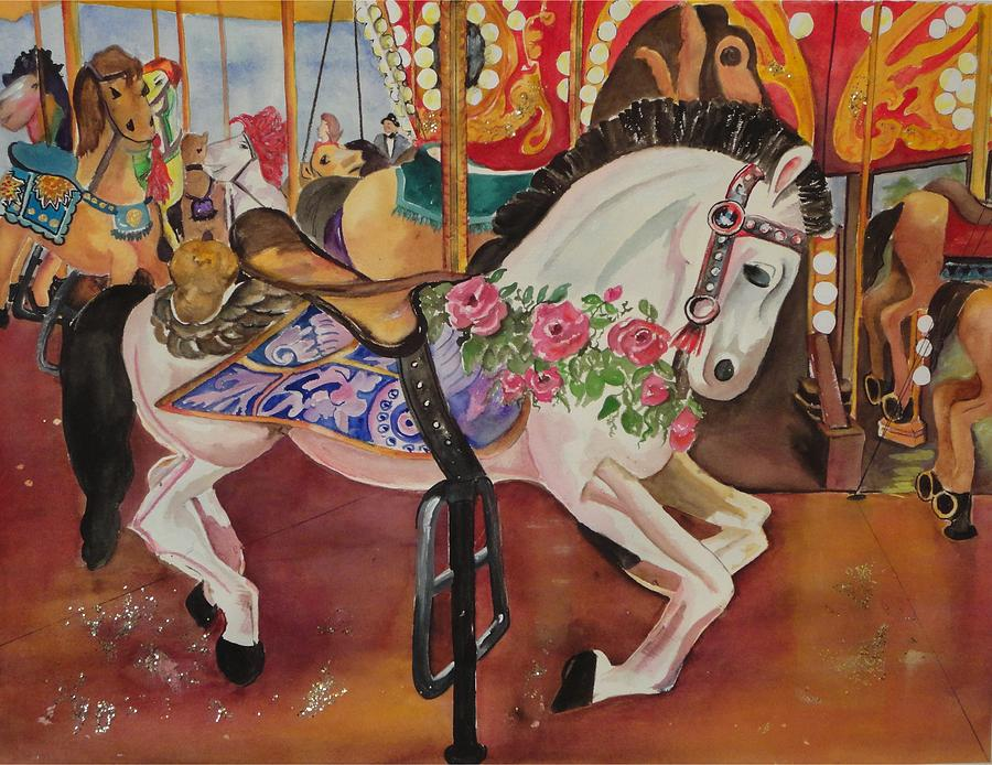 Horse Painting - Queen Rose by Barbara Koepsell