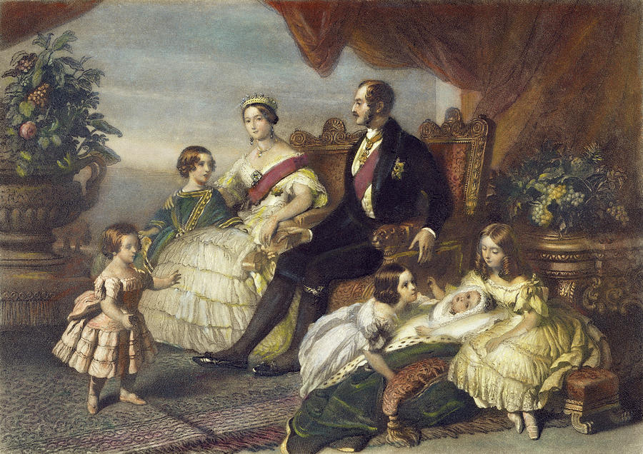 1848 Painting - Queen Victoria & Family by Granger