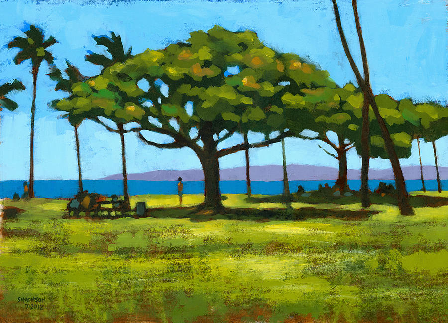 Landscape Painting - Queens Surf Weekend by Douglas Simonson