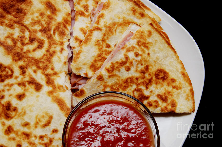 Food Photograph - Quesadilla by Andee Design