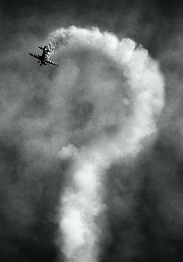 Airplane Photograph - Questions About This Manoeuvre?, Anyone?, No? by Artistname