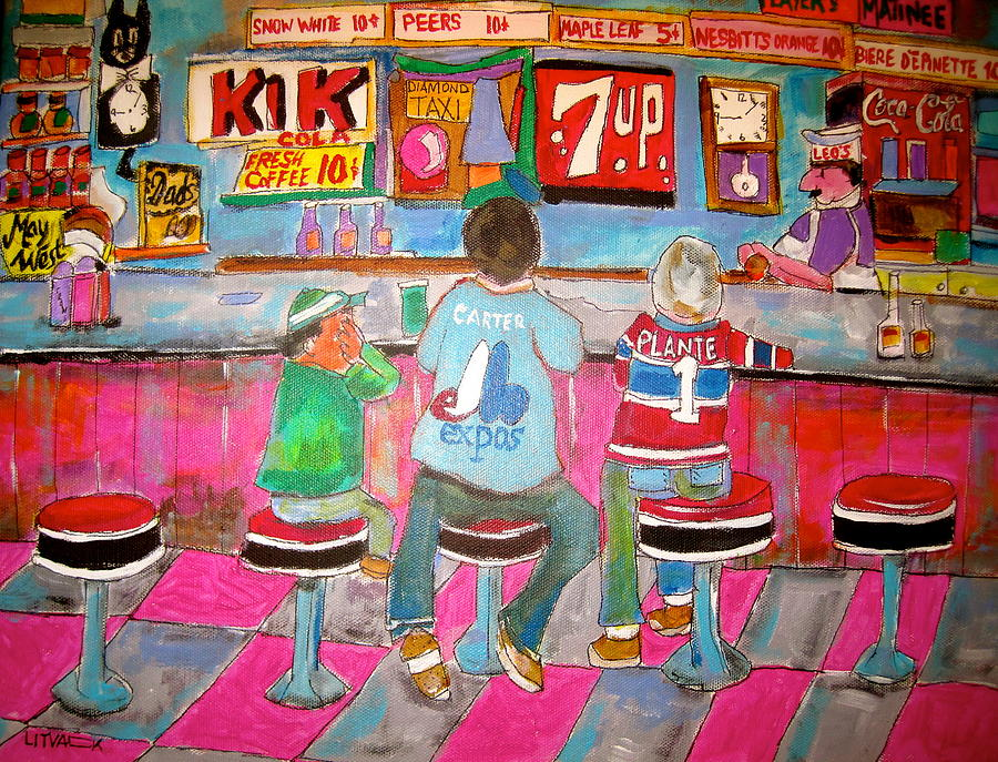 Montreal Canadiens Painting - Quick Deli 2 by Michael Litvack