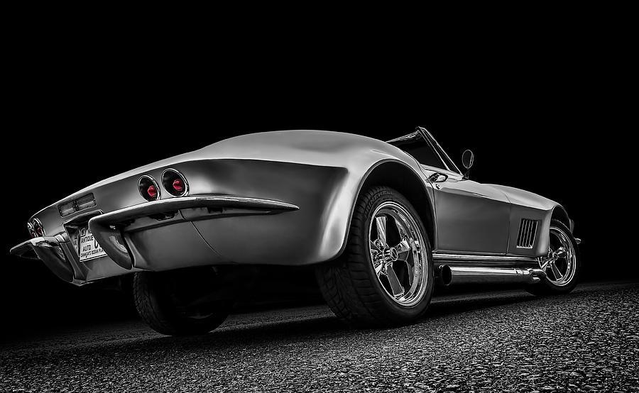 Corvette Digital Art - Quick Silver by Douglas Pittman