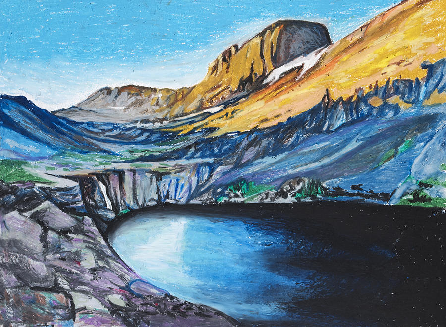 Mountains Painting - Quick Sketch - Kit Carson Peak by Aaron Spong