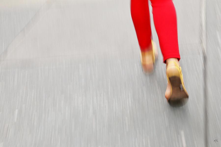 Walking Photograph - Quick Step by Karol Livote