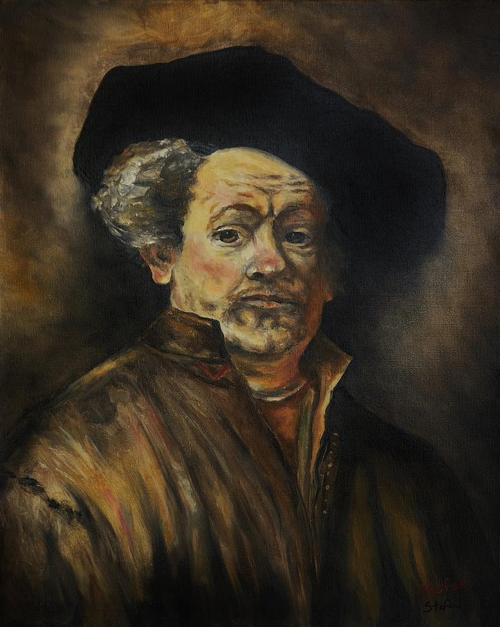 Portrait Painting - Quick Study Of Rembrandt by Stefon Marc Brown