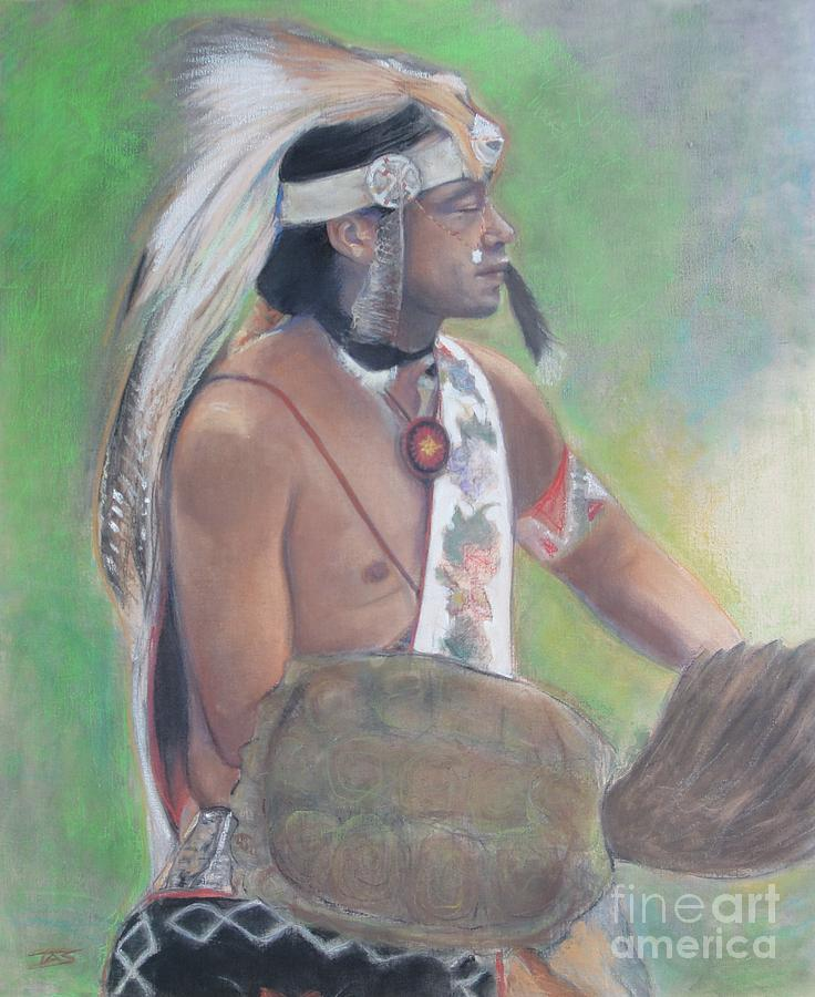Native American Painting - Wampanoag Dancer by Terri Ana Stokes