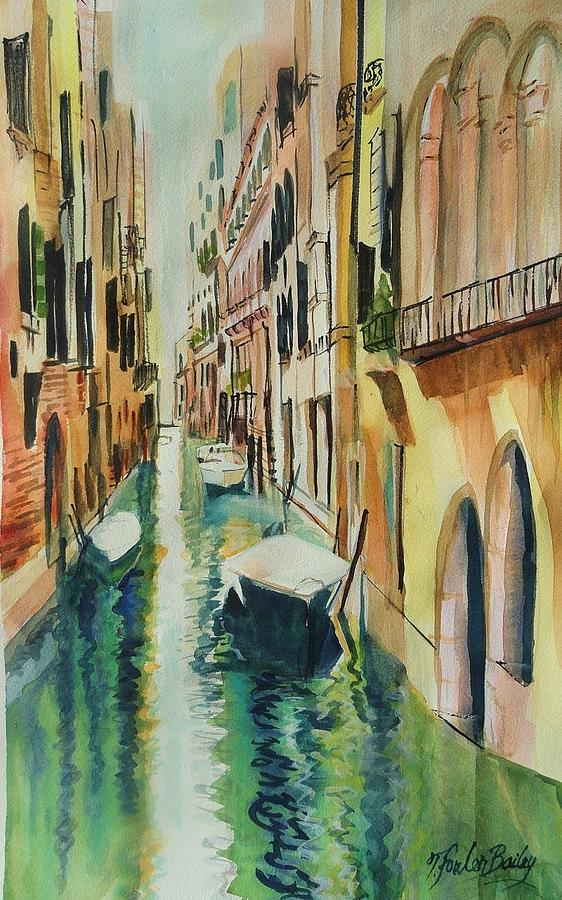 Venice Painting - Quiet Canals of Venice by Therese Fowler-Bailey