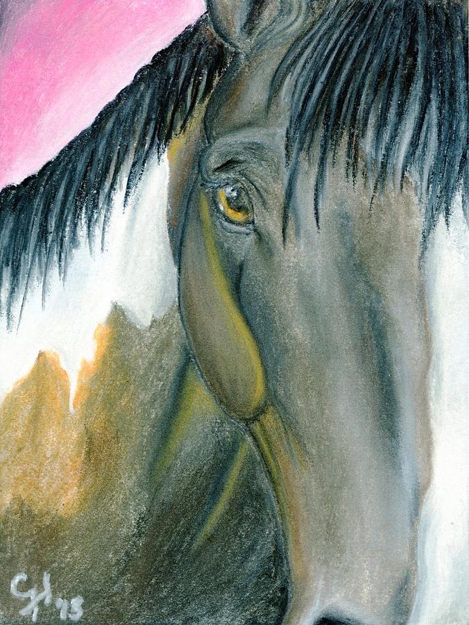 Horse Pastel - Quiet by Christian Henderson