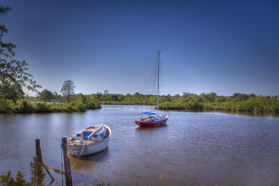 Sailboats Photograph - Quiet Cove by Barry Jones
