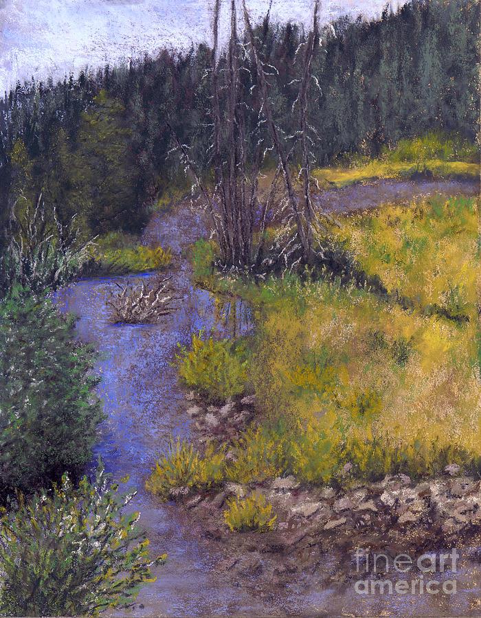Creek Painting - Quiet Creek by Ginny Neece