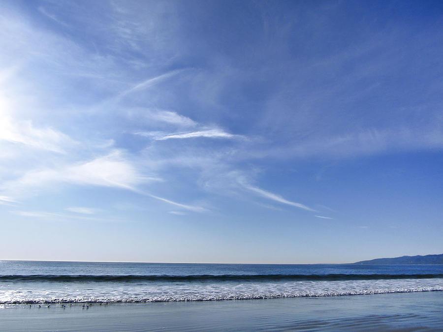 Beach Painting - Quiet Day by Mariola Szeliga