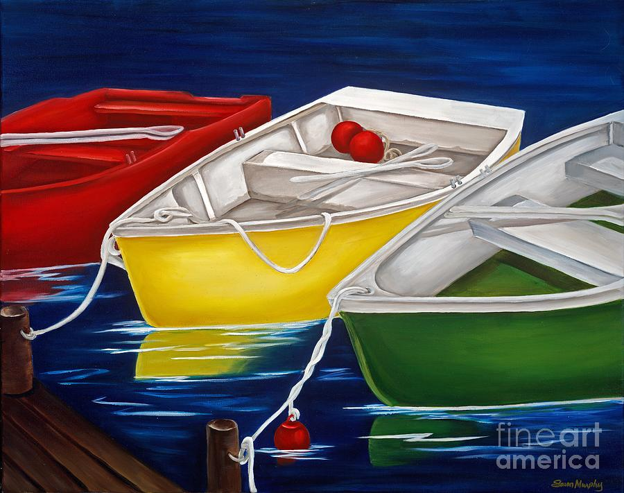 Boats Painting - Quiet Days by Susan Murphy