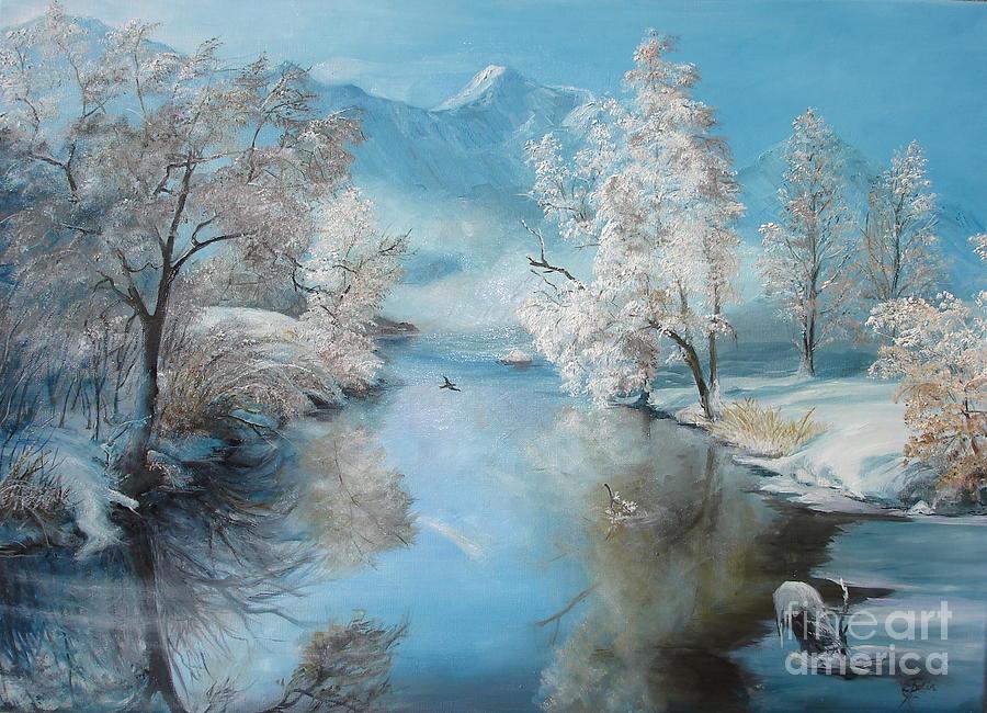 Quiet Ice Painting