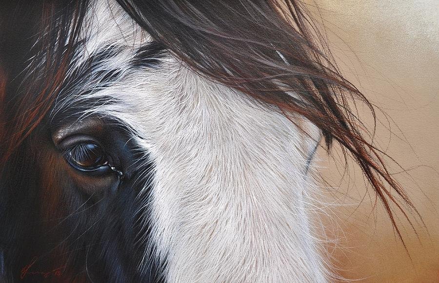 Animal Drawing - Quiet Light by Elena Kolotusha