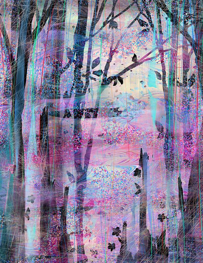 Forest Digital Art - Quiet Place by Rachel Christine Nowicki