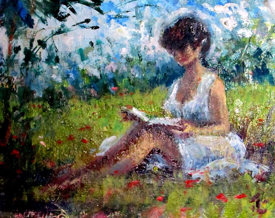 Landscape Painting - Quiet Read by Philip Corley