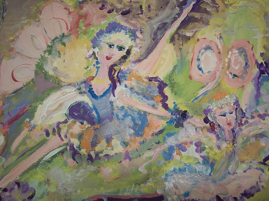 Hush Painting - Quiet Time Fairies by Judith Desrosiers