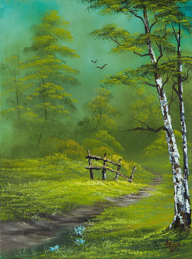 Landscape Painting - Quiet Trail by C Steele