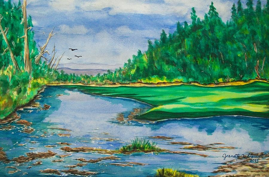 Landscape Painting - Quiet View by Jeanette Stewart