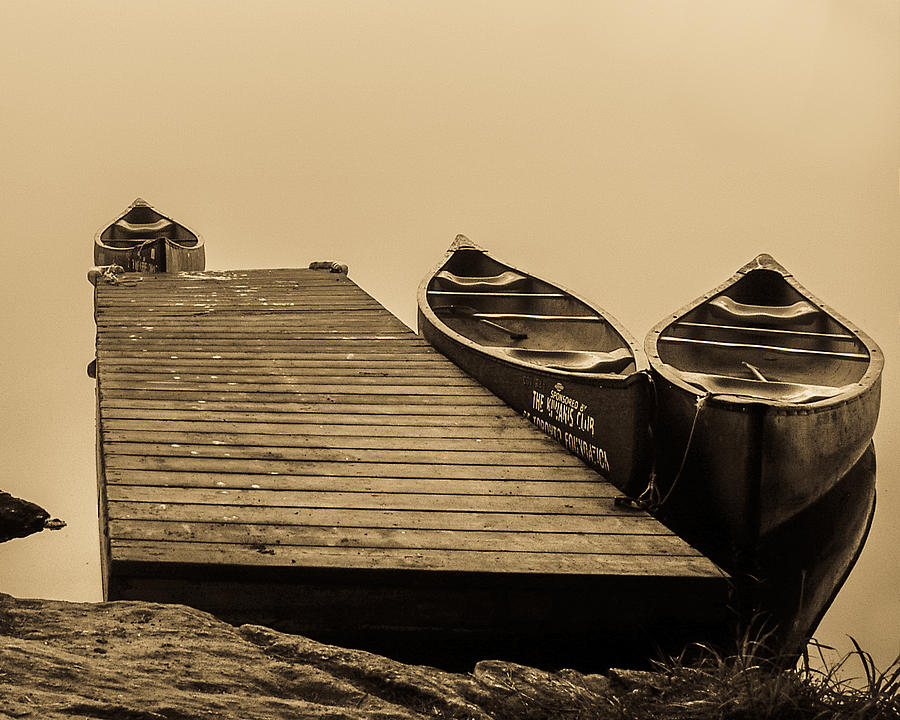 Canoe Photograph - Quietly Resting by Gerald Murray Photography