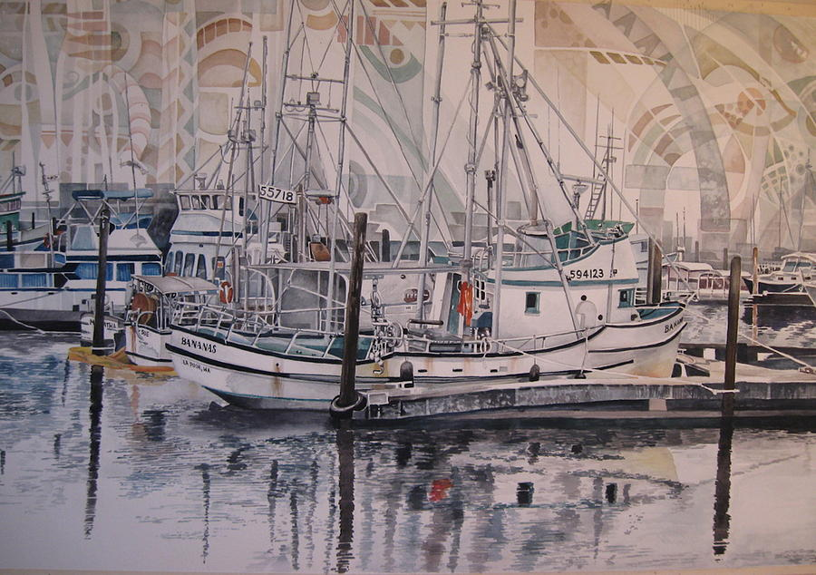 Quileute Marina - Bananas Painting by Lance Wurst