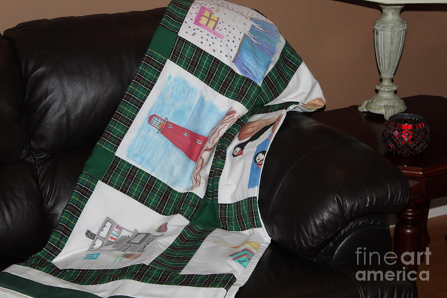 Quilts Tapestry - Textile - Quilt Newfoundland Tartan Green Posts by Barbara Griffin