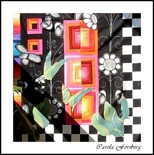 Quilt Mixed Media - Quilt Under Construction by Carola Ann-Margret Forsberg