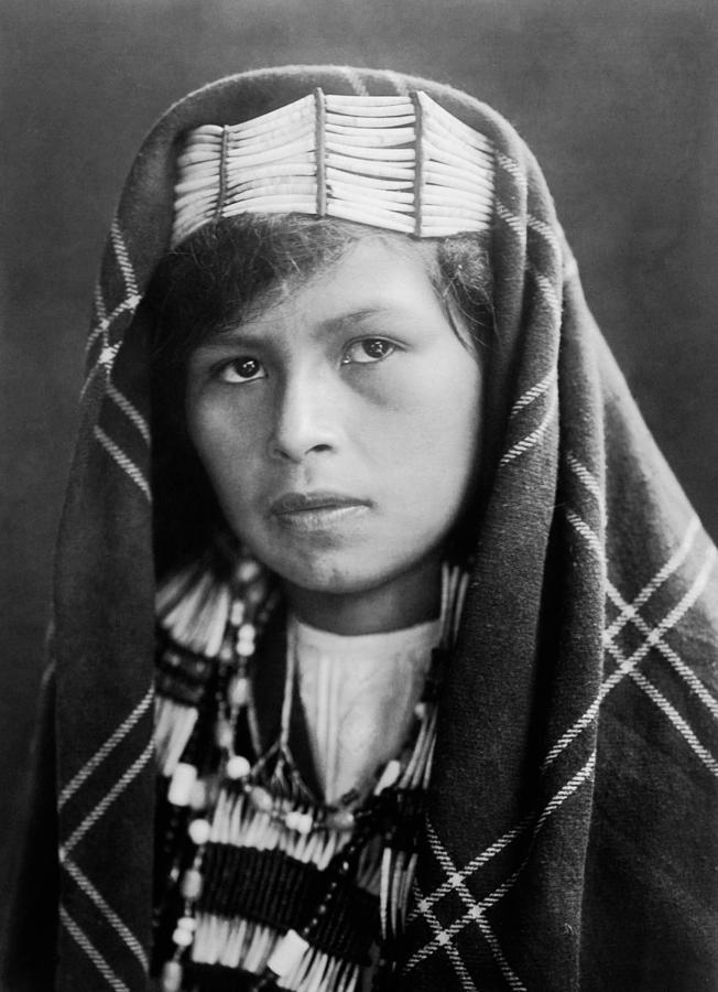 Quinault Indian Woman Circa 1913 Photograph