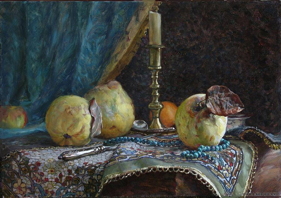 Stilllife Painting - Quince by Korobkin Anatoly
