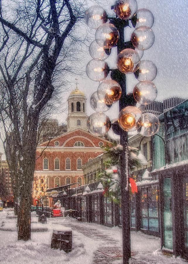 Quincy Market Christmas 2 Photograph by Joann Vitali