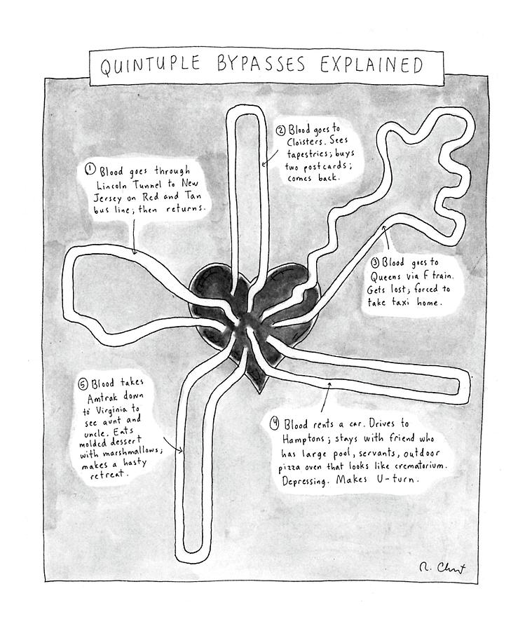 Quintuple Bypasses Explained By Roz Chast