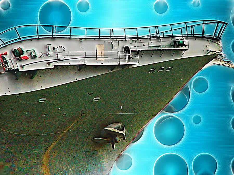 Ship Photograph - Quirky Advance by Wendy J St Christopher