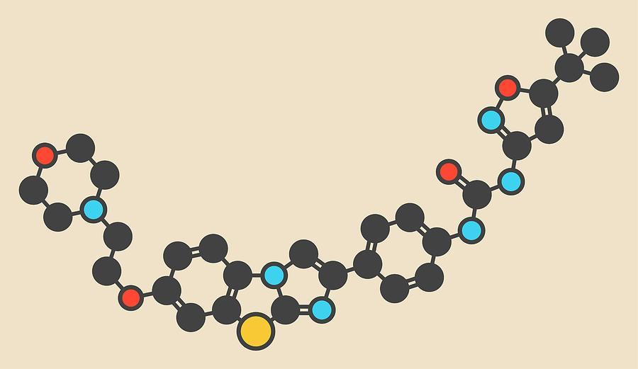 Cancer Photograph - Quizartinib Drug Molecule by Molekuul