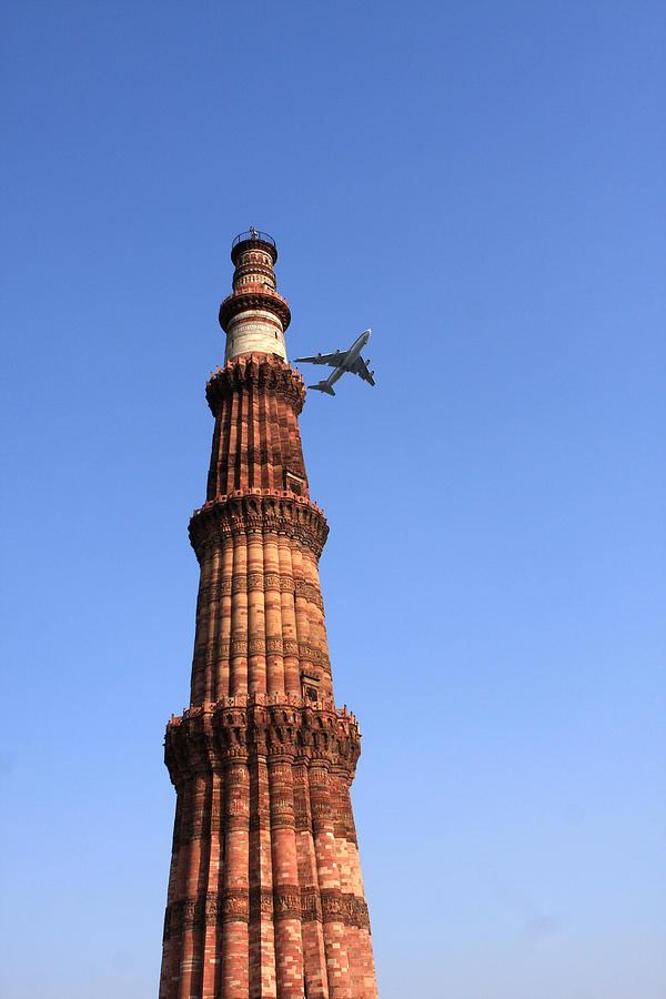 India Photograph - Qutab Minar Minaret - New Delhi - India by Aidan Moran