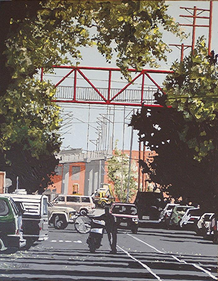 Sacramento Painting - R Street by Paul Guyer