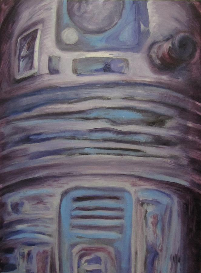 R2d2 Drawing - R2 Abstract by Howard Perry