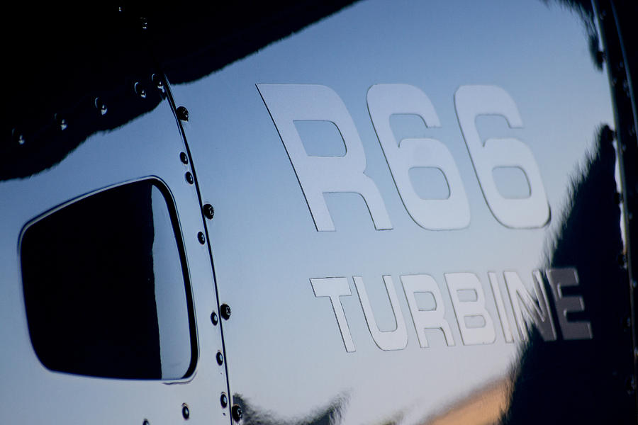 Helicopter Photograph - R66 Reflection by Paul Job
