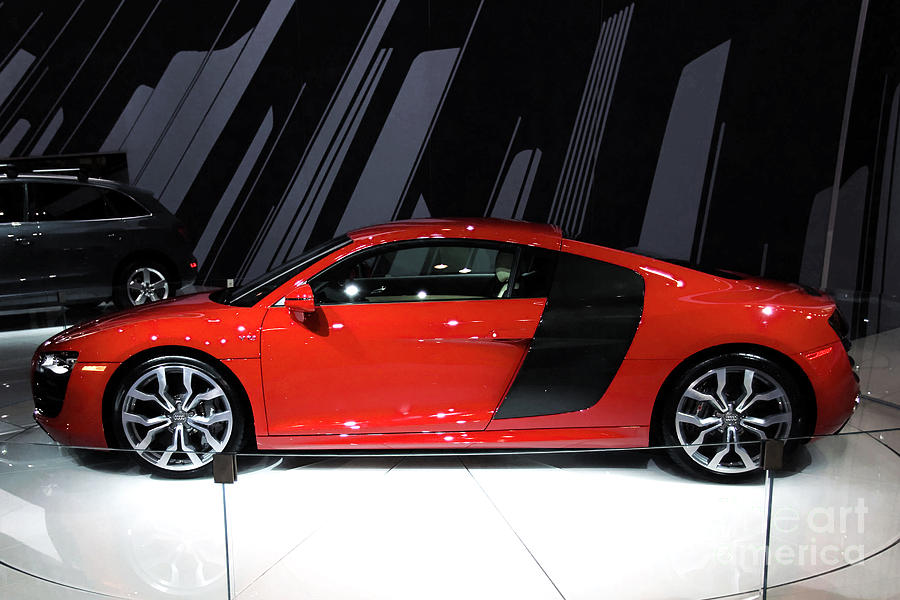 Automotive Photograph - R8 In Red by Alan Look
