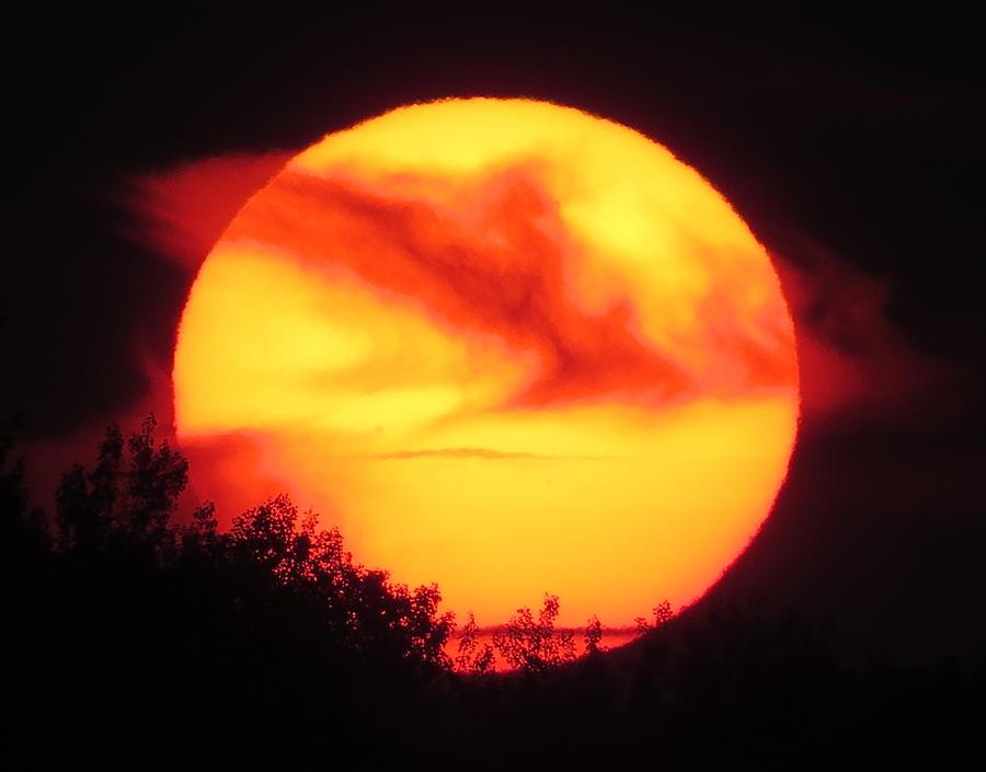 Sun Photograph - Ra The Sun God Awakes by Alex  Call