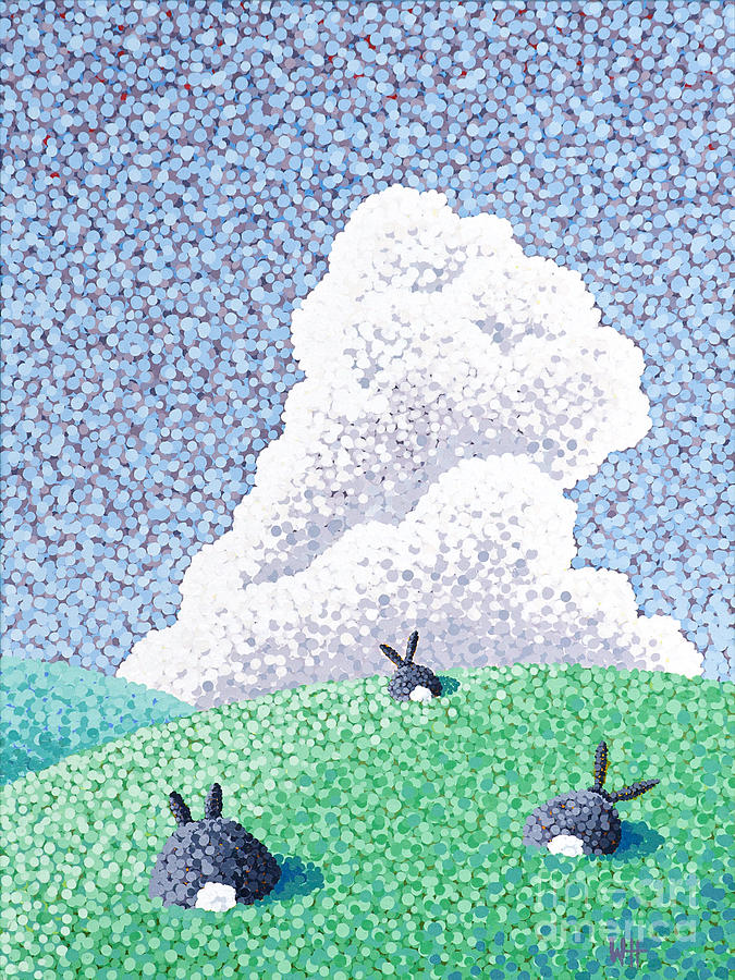 Rabbits Painting - Rabbits At Rest by Wayne Hardee